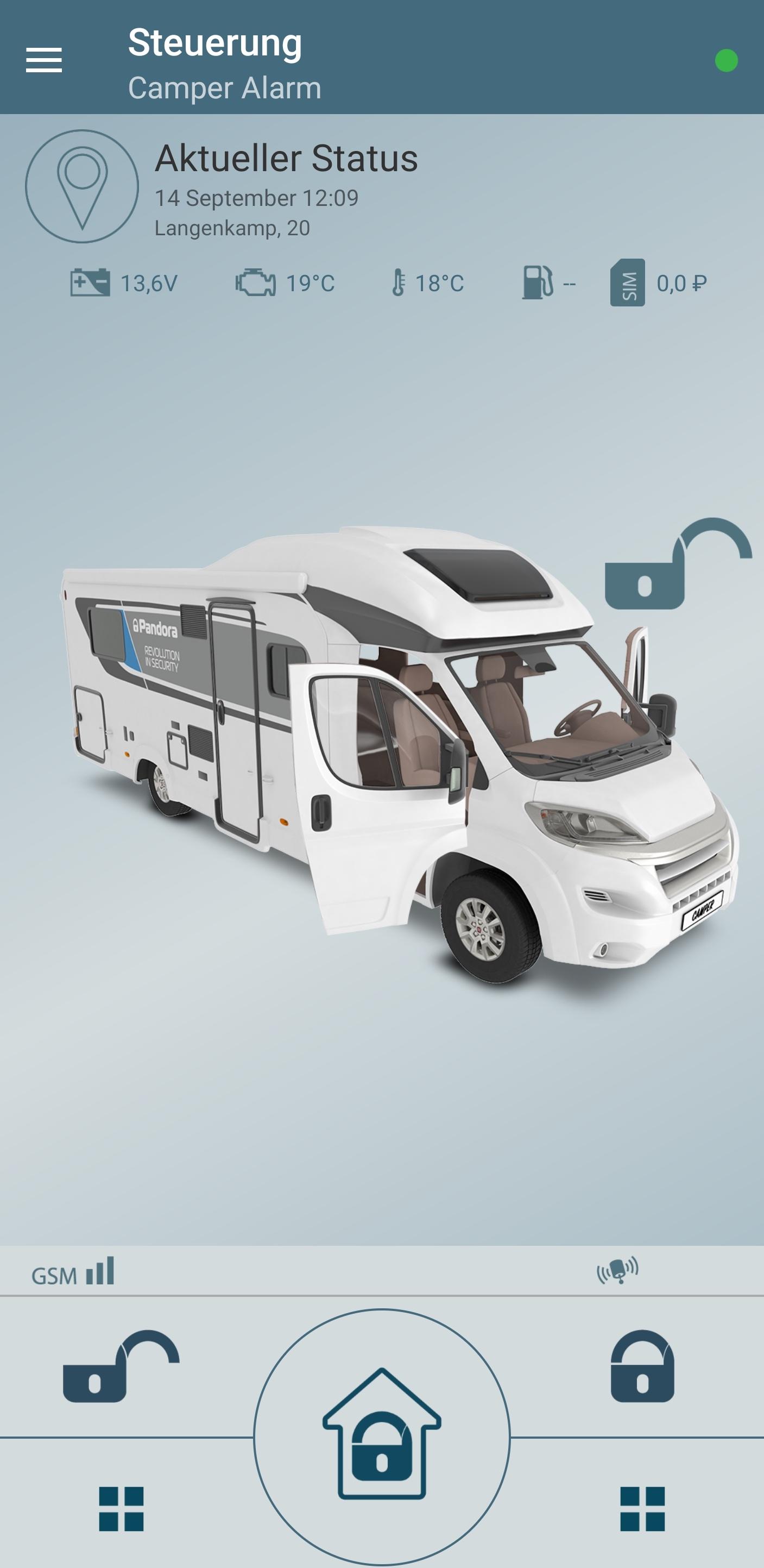 Angebot Pandora Camper Alarmanlage nachrüsten Preis Camper pro