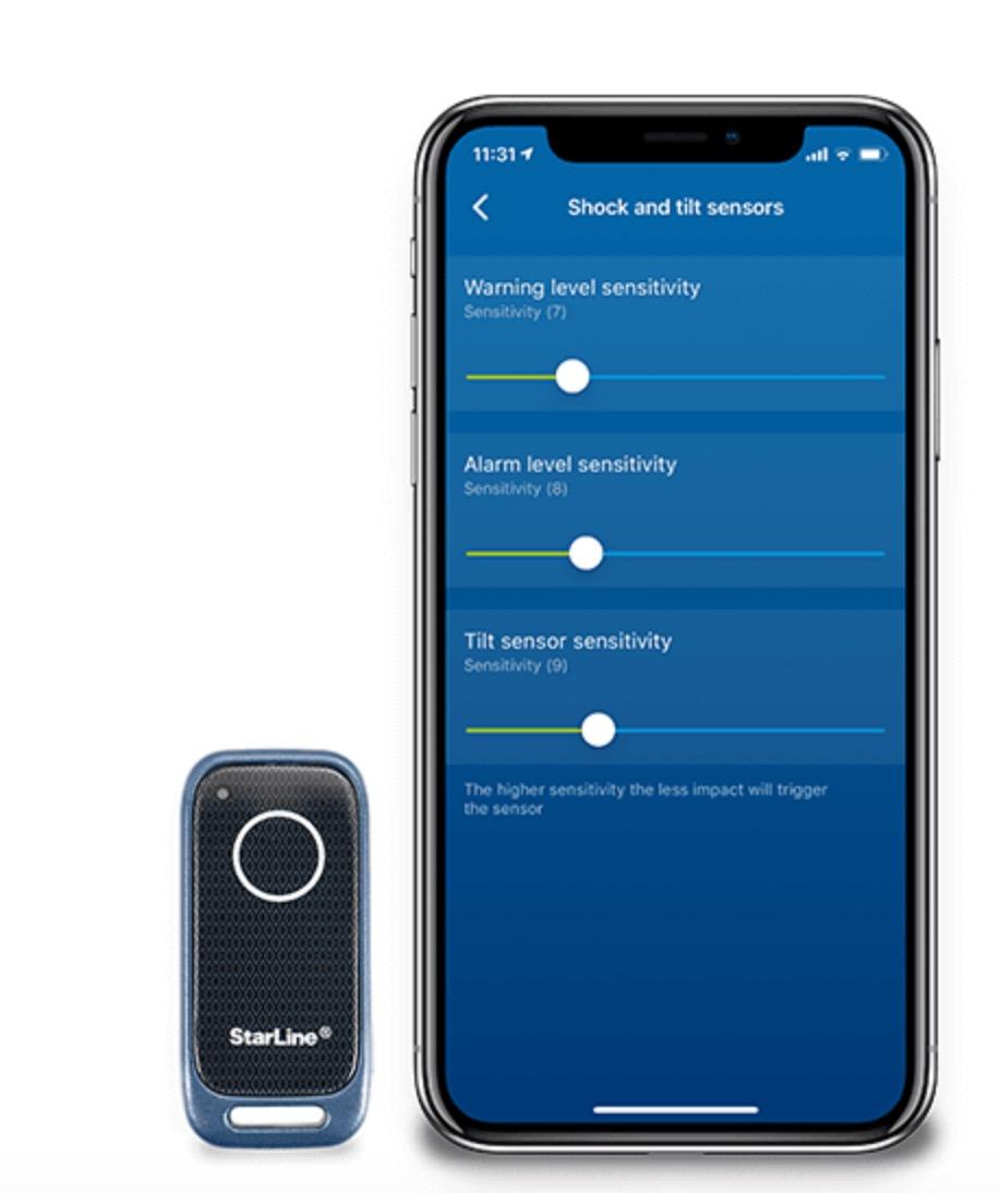 Starline Bluetooth Tags und App Sensor Steuerung